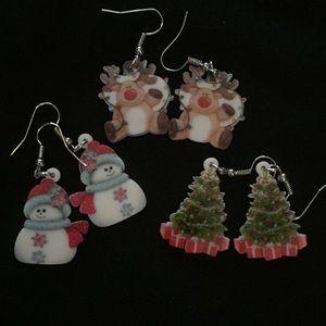 Set of 3 CHRISTMAS EARRINGS